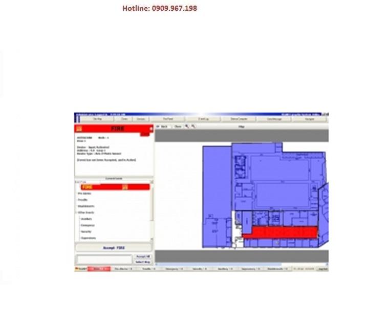 Board đồ họa từ 5-8 tủ FireNet quản lý trên 01 máy vi tính HOCHIKI GUS5-8