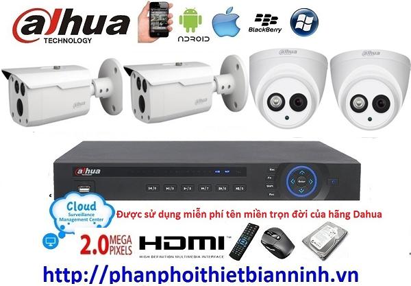 Camera dahua trọn bộ 2.0MP (DVR 4 kênh cao cấp)