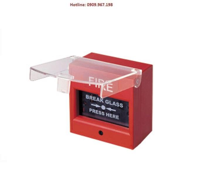 Nút nhấn khẩn vuông bể kính có chụp bảo vệ HORING AH-0217