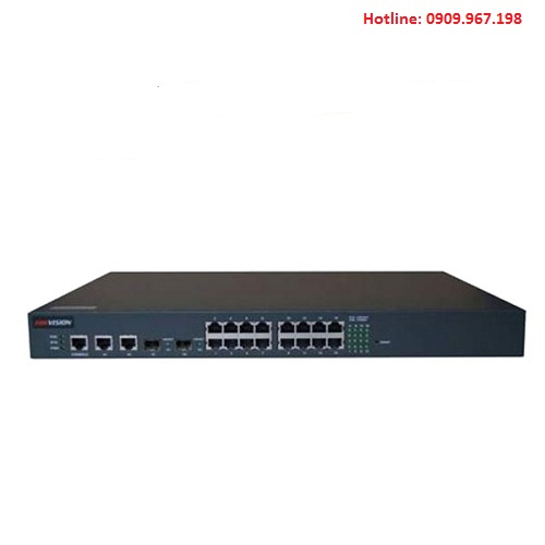 Switch PoE 16 cổng 100M Ethernet Hikvision DS-3D2216P