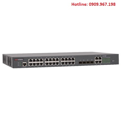 SWITCH POE 24 CỔNG 100M HIKVISION DS-3D2228P