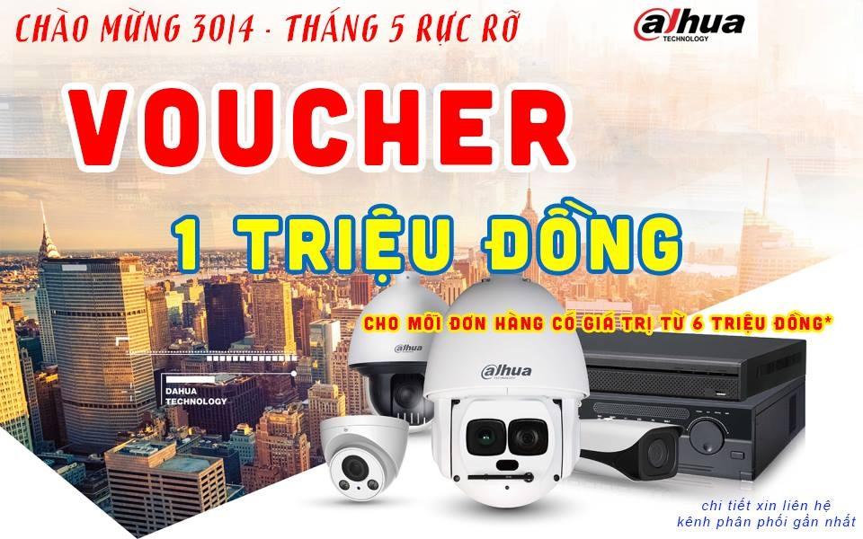 Tặng Voucher 1 triệu khi mua camera Dahua